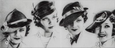 帽子の歴史、20世紀レディースの中でも