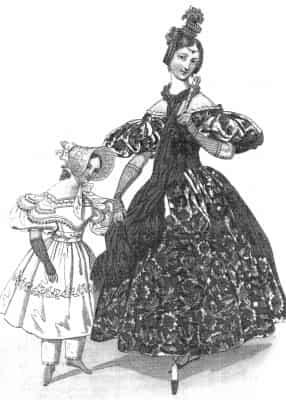 1830年のドレスはファッション史の中