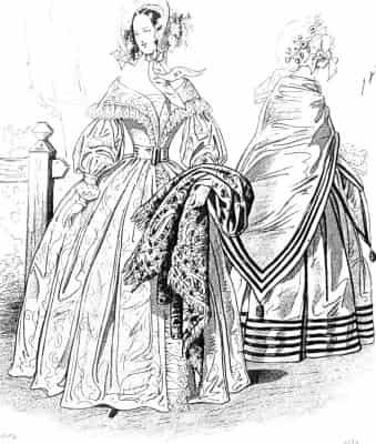 830年のドレスはファッション史の中